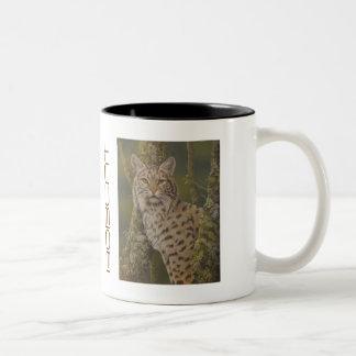 """Dusty"" Bobcat Two-Tone Coffee Mug"