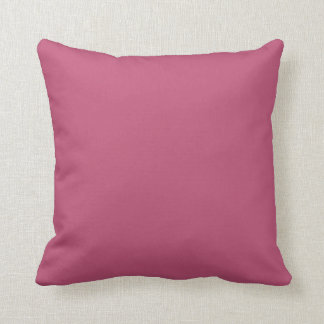 Dusty Cedar Pink Vintage Rose 2015 Color Trend Throw Pillow
