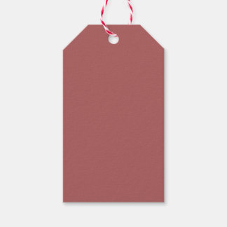 Dusty Cedar Rose Pink Warm Fall Solid Color Pack Of Gift Tags