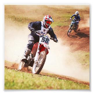 Dusty Dirtbike Race Photo Print