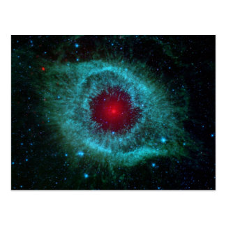 Dusty Eye of Helix Nebula by Spitzer Telescope Postcard