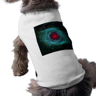 Dusty Eye of Helix Nebula NGC 7293 Doggie Tee Shirt