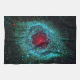 Dusty Eye of Helix Nebula NGC 7293 Kitchen Towel