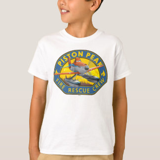 Dusty Fire Rescue Crew Badge T-Shirt