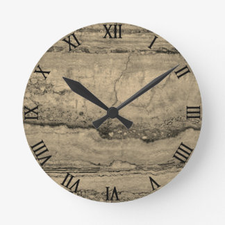 Dusty grey Granite Round Clock