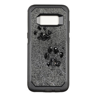 Dusty Grungy Cat Paw Pad Prints OtterBox Commuter Samsung Galaxy S8 Case