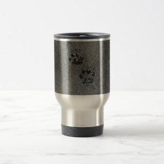 Dusty Grungy Cat Paw Pad Prints Travel Mug
