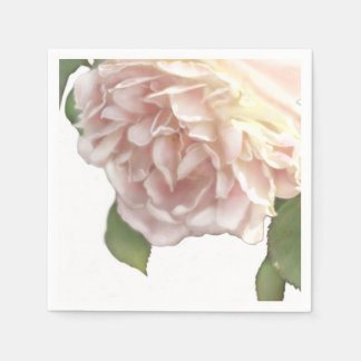 Dusty Ivory Rose Paper Napkin
