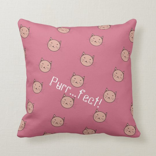Dusty Pink Cat Pillow
