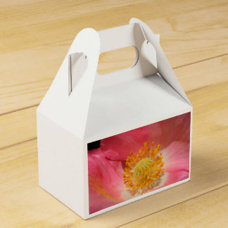 Dusty Pink Colored Poppy Favor Box