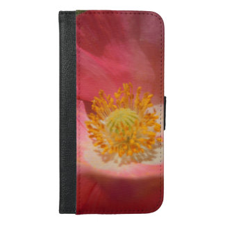 Dusty Pink Colored Poppy iPhone 6/6s Plus Wallet Case