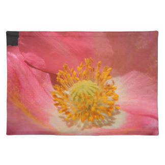 Dusty Pink Colored Poppy Placemat