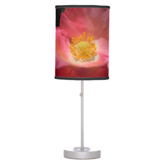 Dusty Pink Colored Poppy Table Lamp