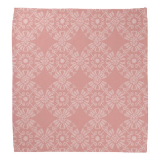 Dusty Pink Floral Pattern Bandana