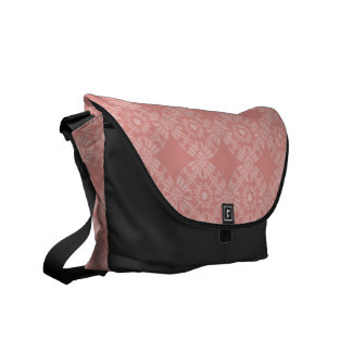 Dusty Pink Floral Pattern Messenger Bags