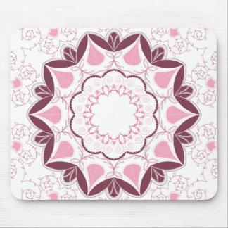 Dusty Pink Mandala Print Customisable Initial Mouse Pad