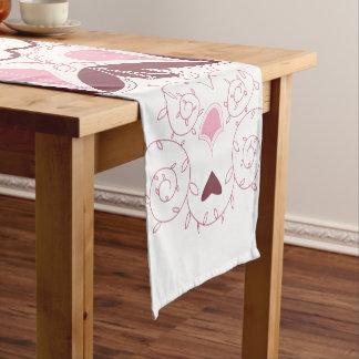Dusty Pink Mandala Print Customisable Initial Short Table Runner