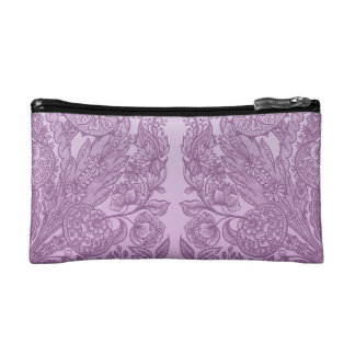 Dusty pink ornament cosmetic bag