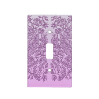 Dusty pink ornament light switch cover