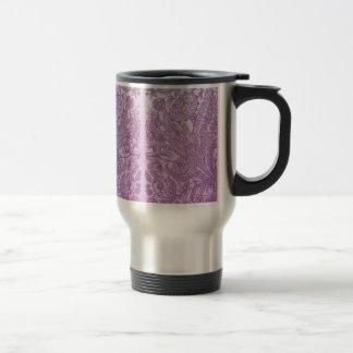 Dusty pink ornament travel mug