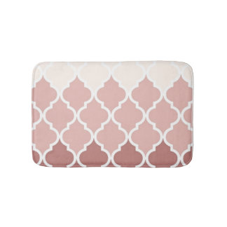 Dusty Pink Quatrefoil Small Bath Mat