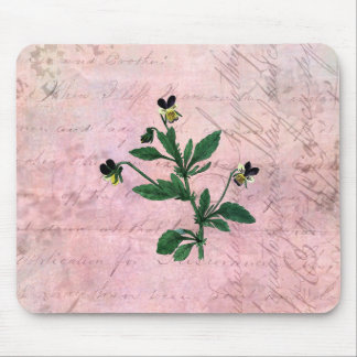 Dusty Pink Vintage Viola Mouse Pad