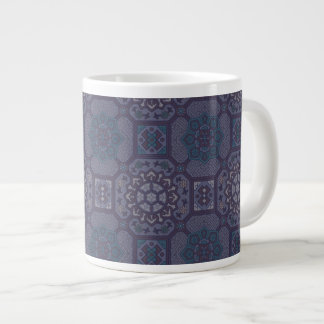 Dusty Purple Country Floral Pattern Large Coffee Mug