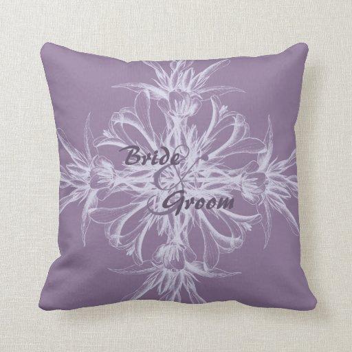 Purple Floral Decorative Pillows : Dusty Purple Floral Wedding Zazzle