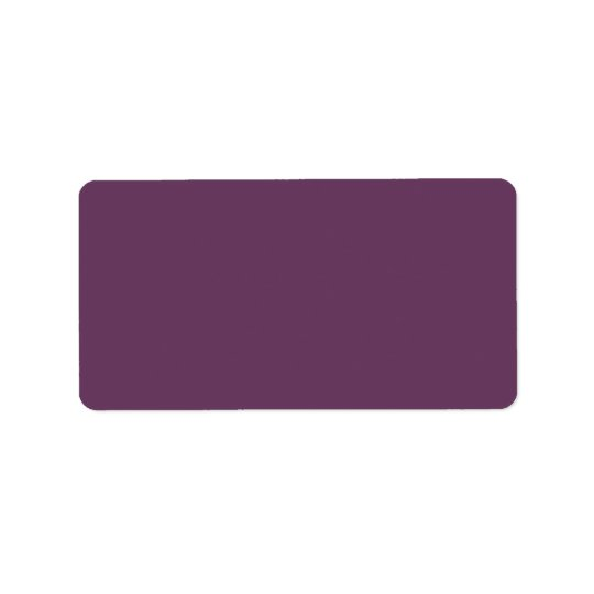 Dusty purple Trend Colour Customized Template Label
