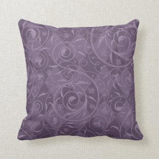 Dusty Purple Venetian Medley Design Throw Pillow