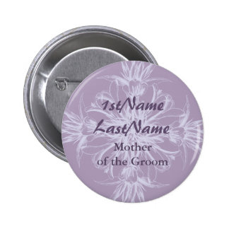 Dusty Purple Vintage Floral Wedding Pins