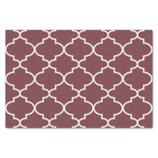 Dusty Red Moroccan Lattice Pattern Tissue Paper