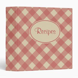 Dusty Red Recipe Binder