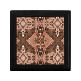 Dusty Rose And Brown Artistic Pattern. Gift Box