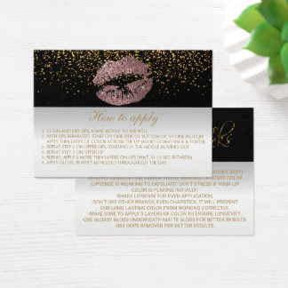 Dusty Rose Application Instructions Business Card