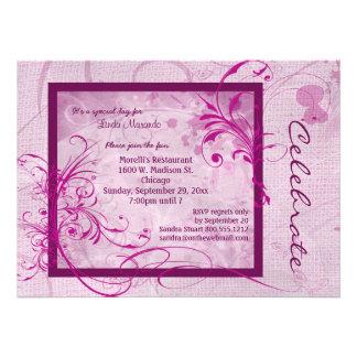 Dusty Rose Colored Scroll All Occasion Invitation