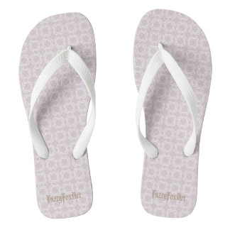 Dusty rose flip flops