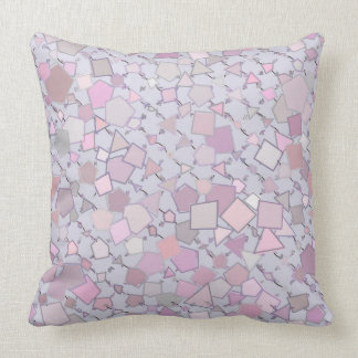 Dusty Rose Geometric Shapes Pillow
