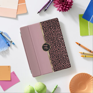 Dusty Rose Gold Leopard Skin iPad Cover
