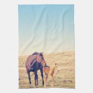Dusty Rose Kitchen Towel Western Horse
