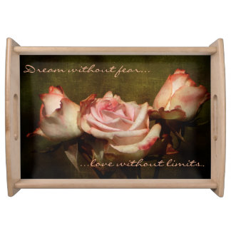 Dusty Rose Serving Tray