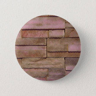 Dusty Rose Tan Stacked Bricks 2 Inch Round Button