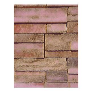 Dusty Rose Tan Stacked Bricks Letterhead