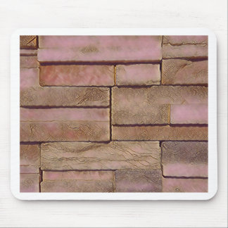 Dusty Rose Tan Stacked Bricks Mouse Pad