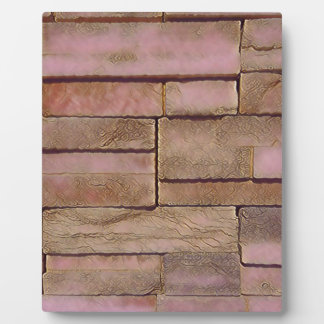 Dusty Rose Tan Stacked Bricks Plaque