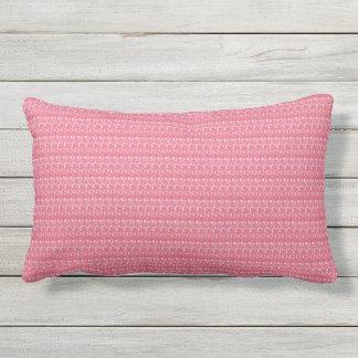 Dusty Rose White Dot Outdoor Lumbar Pillow