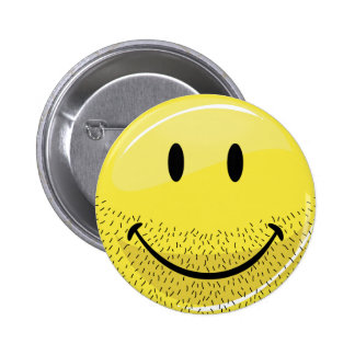 Dusty Ruff Bearded Smiley Face 2 Inch Round Button