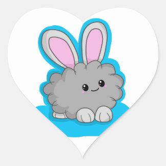Dusty the Dust Bunny Heart Sticker