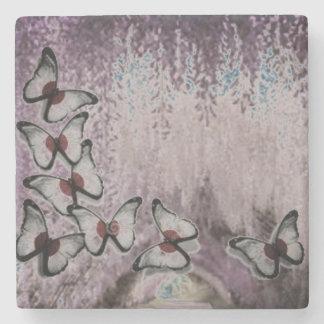 Dusty Weeping Butterfly Tree Stone Coaster