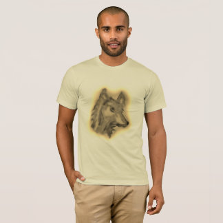 DUSTY WOLF ART PRINT FOE MEN SHIRT